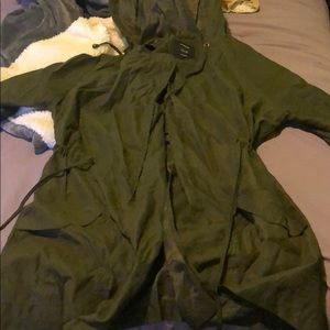 Green coat size large.